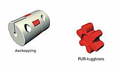 Axelkoppling och PUR-Kuggkrans