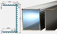 Euro-kylflänsprofil 3 - Längd 1000mm, Svart